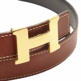 Hermes Brown Calf Leather Constance Belt 319534