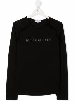 Givenchy Kids футболка с логотипом H1518609B