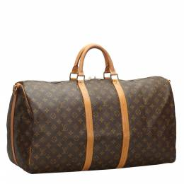 Louis Vuitton Canvas Large Keepall Bandouliere 55 Duffel Bags 319340