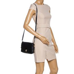 Kate Spade Black Leather Flap Crossbody Bag 321519