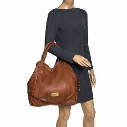 Marc By Marc Jacobs Brown Leather Classic Q Francesca Shoulder Bag 320205