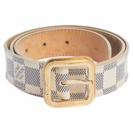 Louis Vuitton Damier Azur Canvas Tresor Belt Size 80CM 320872