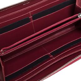 Cartier Maroon Leather Happy Birthday Zip Around Wallet 318928
