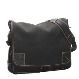 Celine Black Canvas Macadam Shoulder Bag 319622