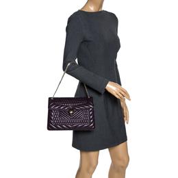 Bvlgari Purple Quilted Scaglie Leather Medium Serpenti Forever Shoulder Bag 320254