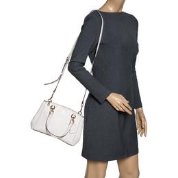 Coach Cream Leather Mini Christie Carryall Shoulder Bag 320408