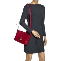 Aigner Red Leather Shoulder Bag 319807
