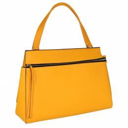 Celine Yellow Leather Medium Edge Top Handle Bag 316226