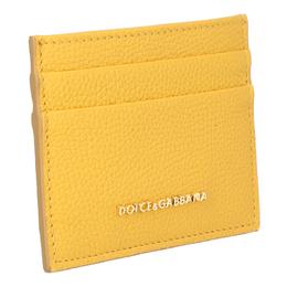 Dolce&Gabbana Yellow Leather Card Case 318284