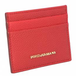 Dolce&Gabbana Red Leather Card Case 318287