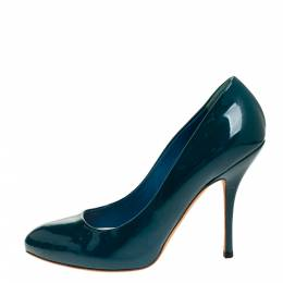 Gucci Green Patent Leather Pumps Size 38 316270