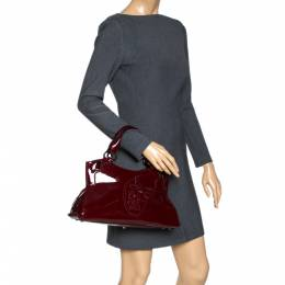 Cartier Red Patent Leather Small Marcello De Cartier Bag 317069