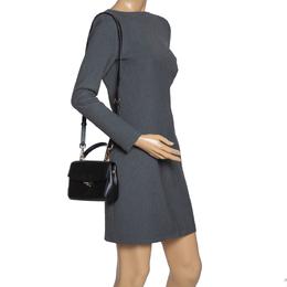 Michael Kors Black Leather Ava Top Handle Bag 316054