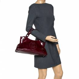 Cartier Red Patent Leather Small Marcello De Cartier Bag 317053