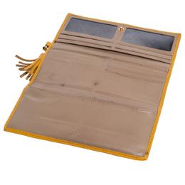 Carolina Herrera Yellow Monogram Leather Continental Wallet Ch Carolina Herrera 318871