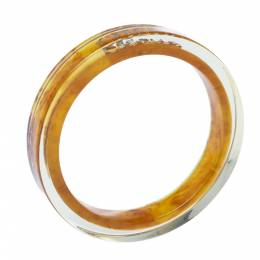 Ch Carolina Herrera Orange Resin Bangle Bracelet 317862