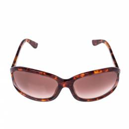 Tom Ford Brown Havana/ Bordeaux Gradient TF278 Vivienne Oval Sunglasses 318311