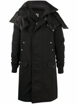 Rick Owens длинное пальто с косым воротником RU20F3983TTNZU