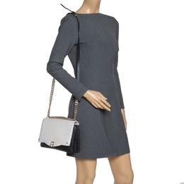 Aigner Black/White Leather Diaodara Shoulder Bag 316174