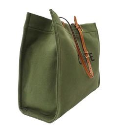 Celine Green Canvas Logo Tote Bag 317781