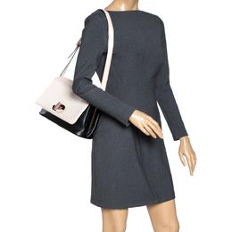 Bvlgari Beige/Black Leather Icona Shoulder Bag 317162