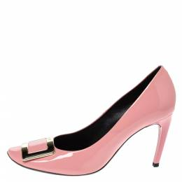 Roger Vivier Pink Patent Leather Trompette Pumps Size 40 316780