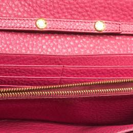 Prada Pink Grained Leather Wallet on Chain 315959