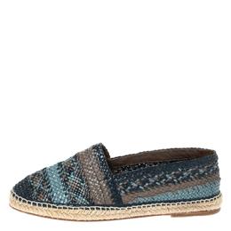 Dolce&Gabbana Multicolor Woven Leather Espadrilles Size 43 316754