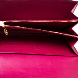 Louis Vuitton Indian Rose Monogram Vernis Leather Flap Continental Wallet 315952