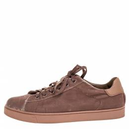 Gianvito Rossi Beige Velvet Loft Low Top Sneakers Size 36 316368