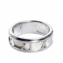 Tiffany & Co. Atlas Roman Numeral Motif Silver Band Ring 51 316211