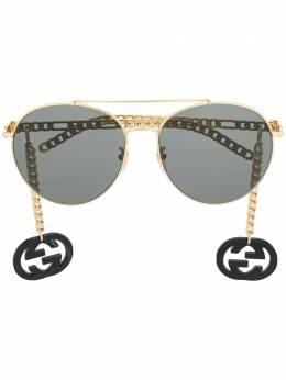 Gucci Eyewear солнцезащитные очки-авиаторы 623842I3330