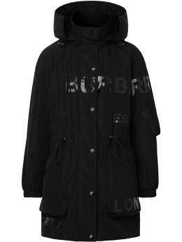 Burberry плащ с логотипом 8029469