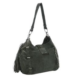 Celine Grey Suede Dimitri Hobo Bag 317908