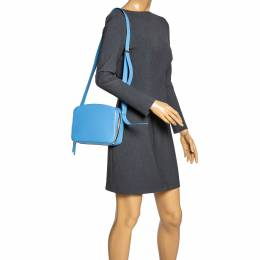 Victoria Beckham Baby Blue Leather Crossbody Bag 318632