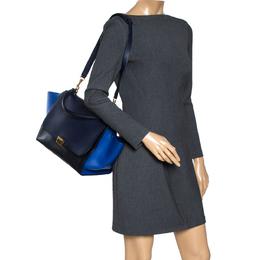 Celine Tri Color Leather Medium Trapeze Bag 316885