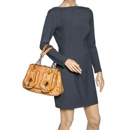 Fendi Mustard Python B Shoulder Bag 315654