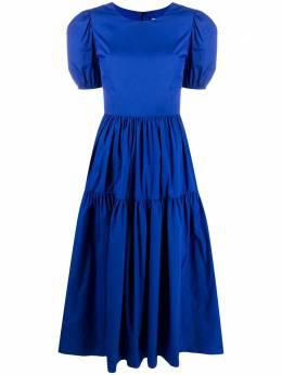 Loulou ярусное платье с пышными рукавами SH201145