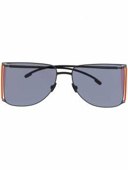 Mykita солнцезащитные очки в геометричной оправе HL002BLACKFLUOPINKSIDES