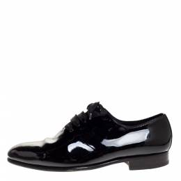 Tom Ford Black Patent Elkan Evening Lace Up Oxfords Size 43 315759