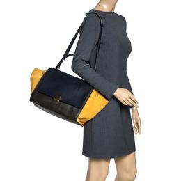 Celine Multicolor Leather and Suede Medium Trapeze Bag 315761