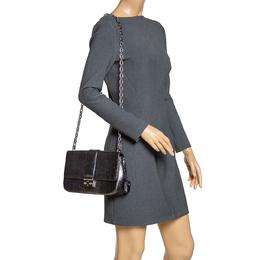 Dior Metallic Grey Python Miss Dior Medium Flap Bag 314414