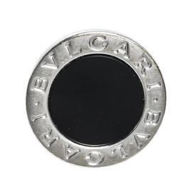 Bvlgari Onyx Inlay 18K White Gold Circular Ring Size 52 315354