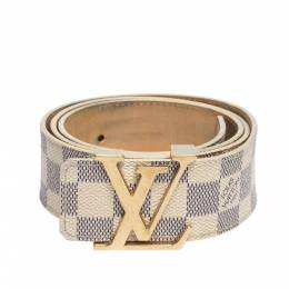 Louis Vuitton Damier Azur Canvas Initiales Belt 90CM 312646