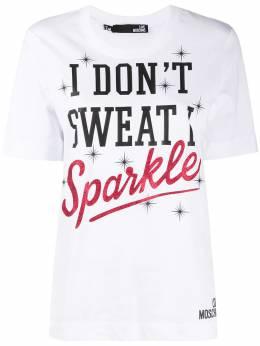 Love Moschino футболка с надписью W4F152KM3876