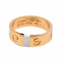 Cartier Love Rose Gold Ring Size 59 313680