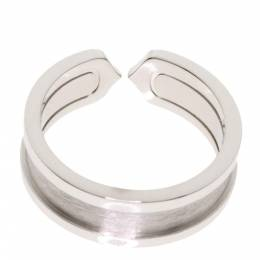 Cartier Double C de Cartier 18K White Gold Ring Size 53 313529