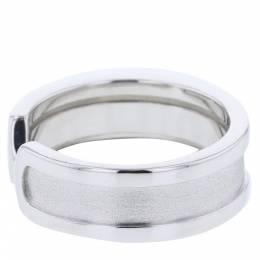 Cartier Double C de Cartier 18K White Gold Ring Size 49 313527