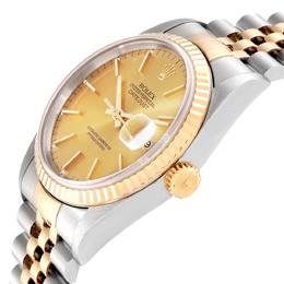 Rolex Datejust Steel 18K Yellow Gold Fluted Bezel Mens Watch 16233 Men's Wristwatch 36 MM 314942
