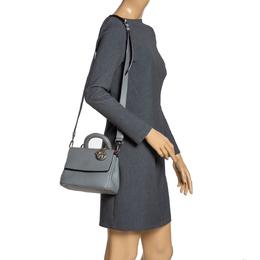 Dior Grey Leather Mini Be Dior Top Handle Bag 315374